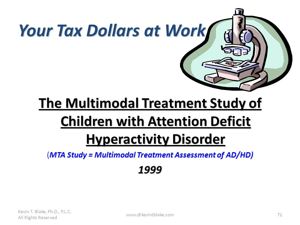 (MTA Study = Multimodal Treatment Assessment of AD/HD)