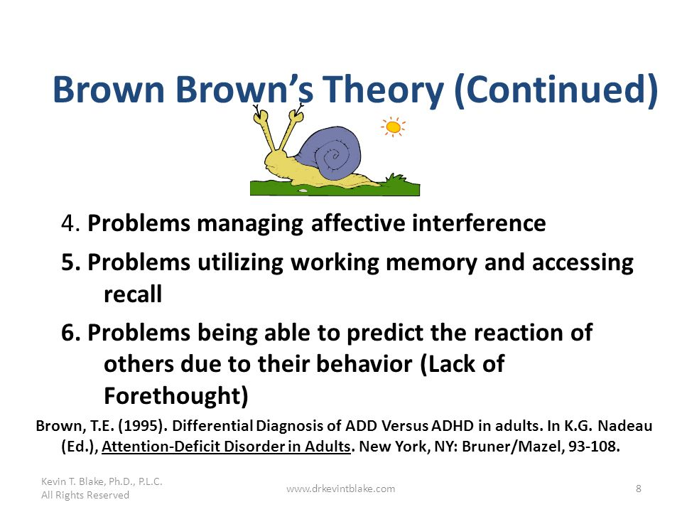 Brown Brown's Theory (Continued)