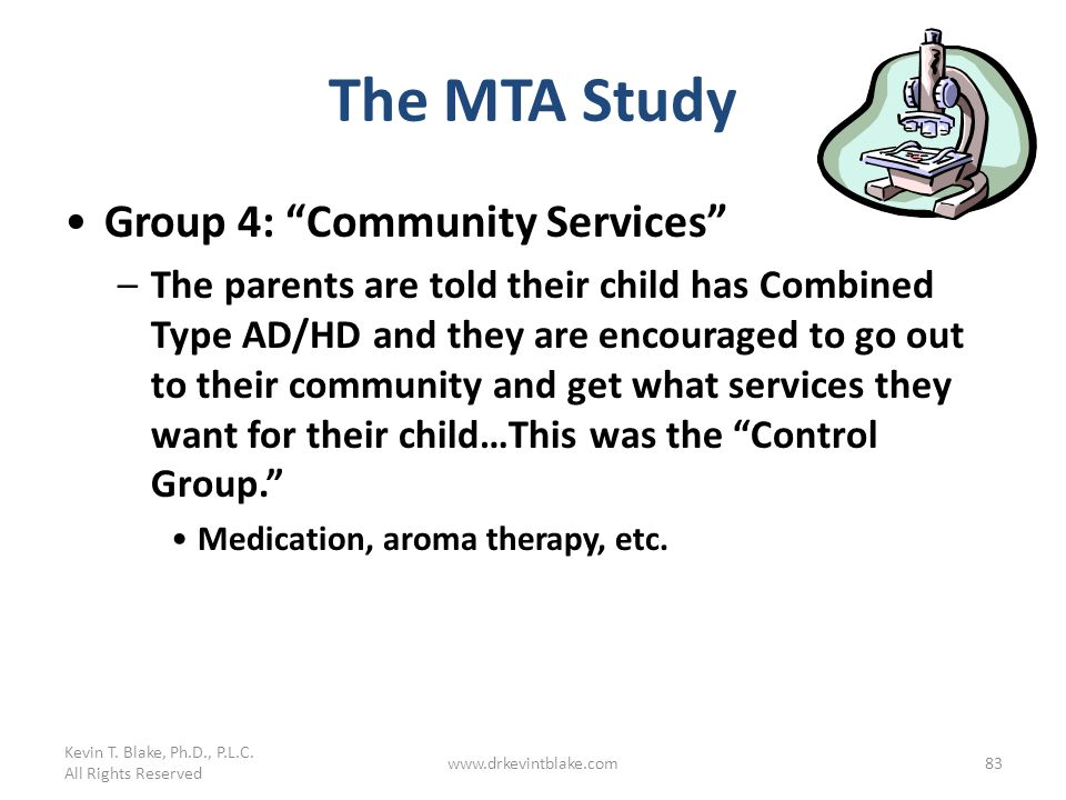 The MTA Study Group 4: Community Services