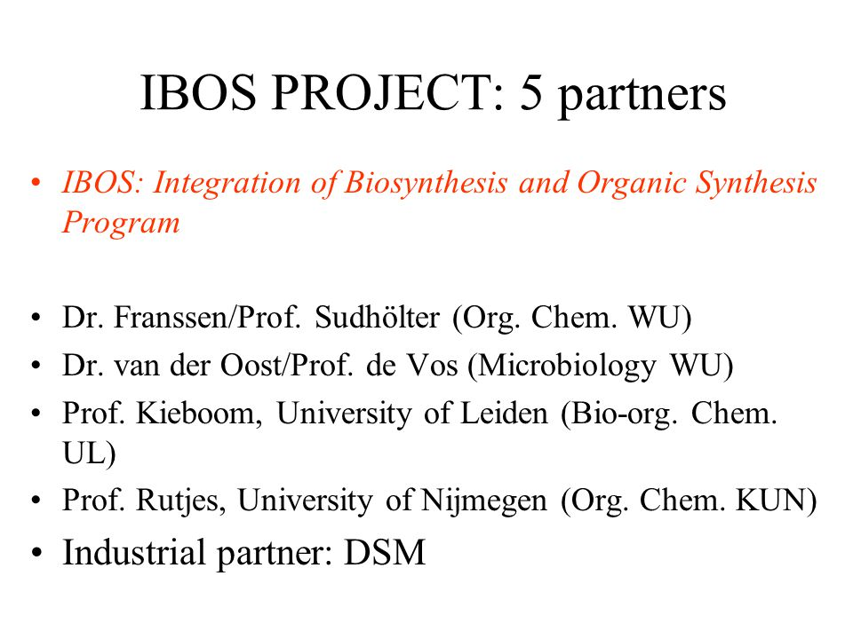 IBOS PROJECT: 5 partners