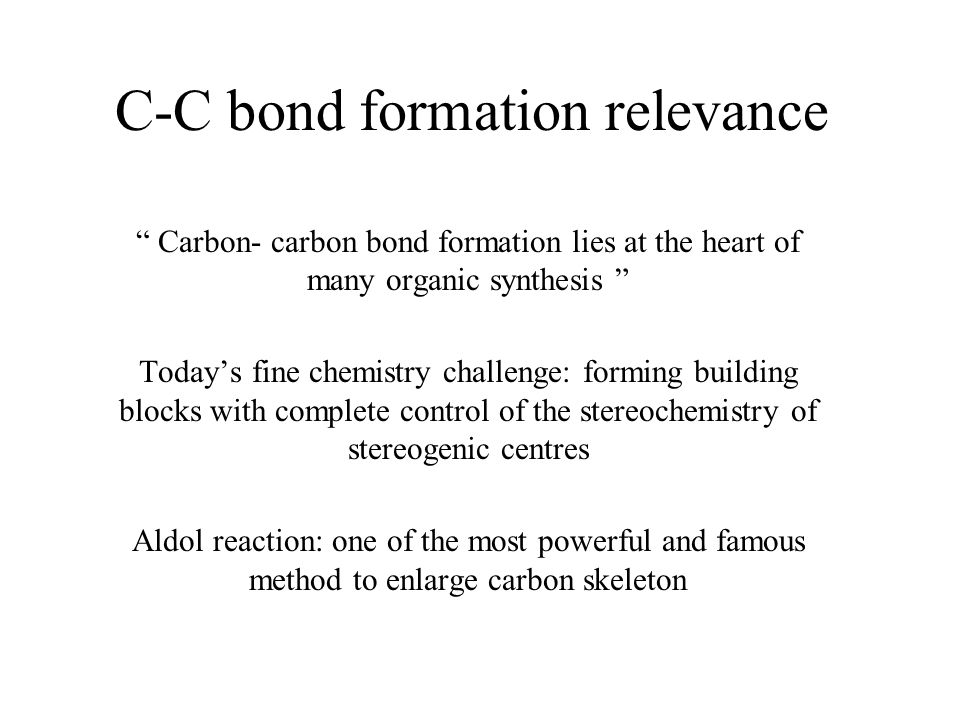 C-C bond formation relevance