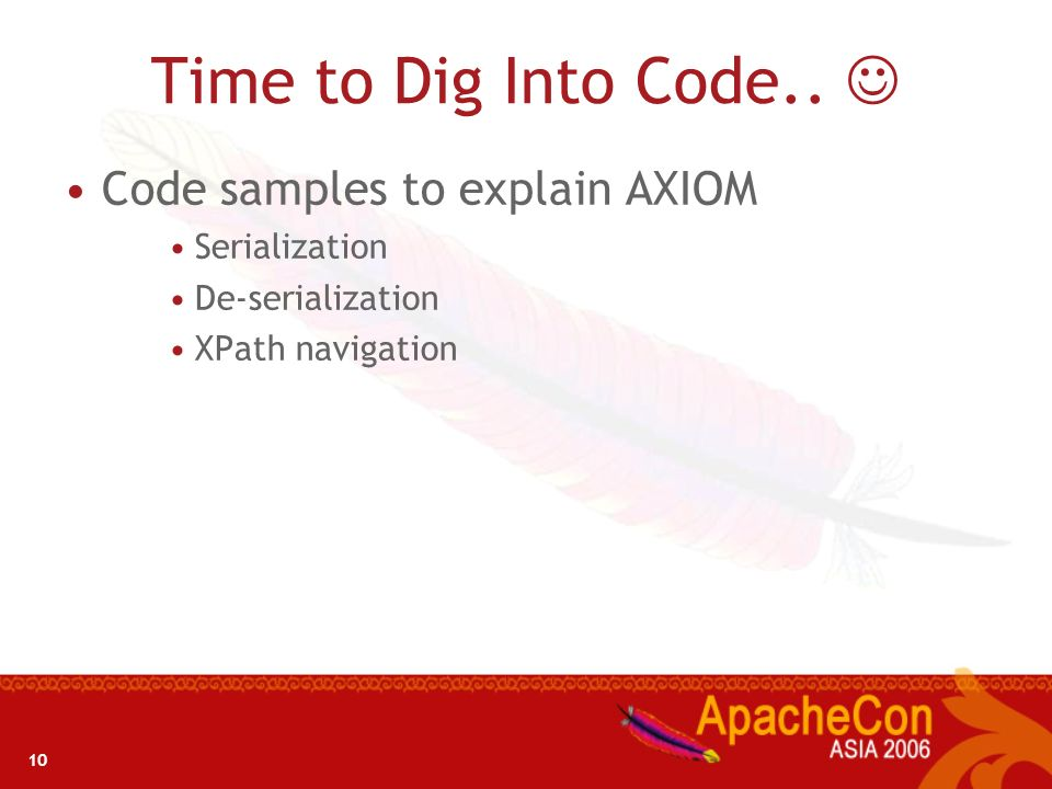 Time to Dig Into Code..  Code samples to explain AXIOM Serialization