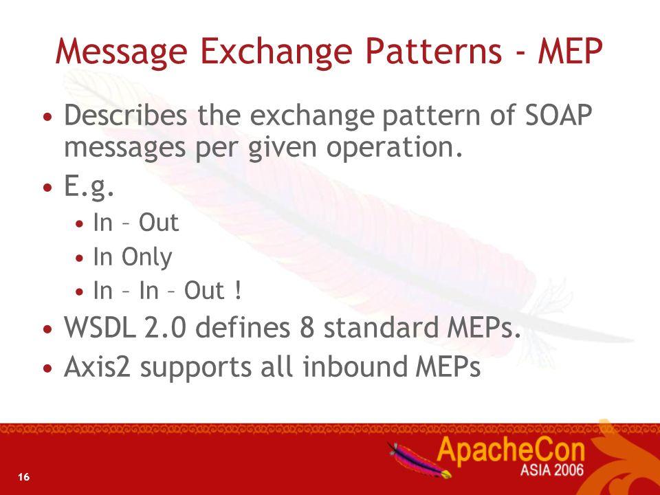 Message Exchange Patterns - MEP