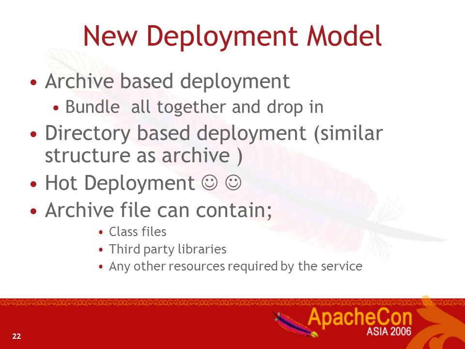 New Deployment Model Archive based deployment
