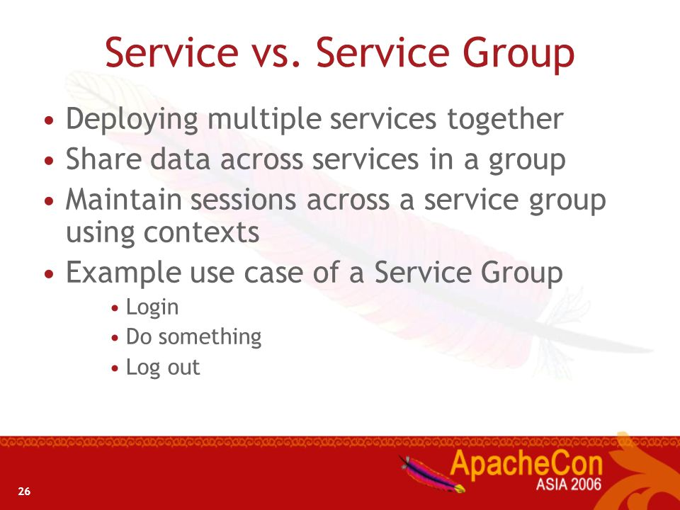 Service vs. Service Group