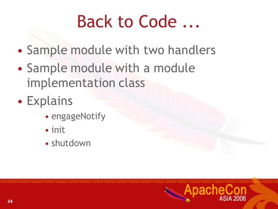 Back to Code ... Sample module with two handlers