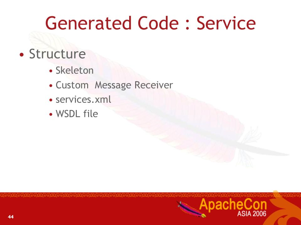Generated Code : Service