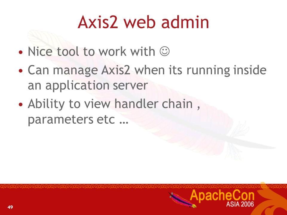 Axis2 web admin Nice tool to work with 