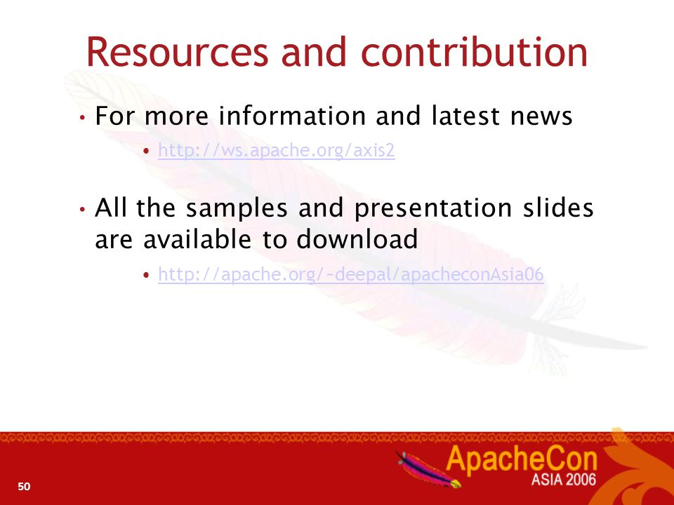 Resources and contribution