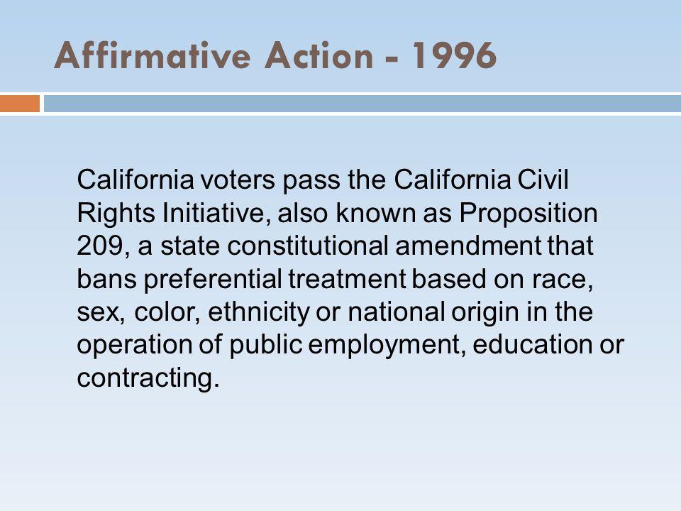Affirmative Action - 1996