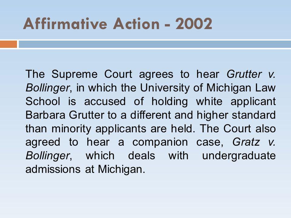 Affirmative Action - 2002