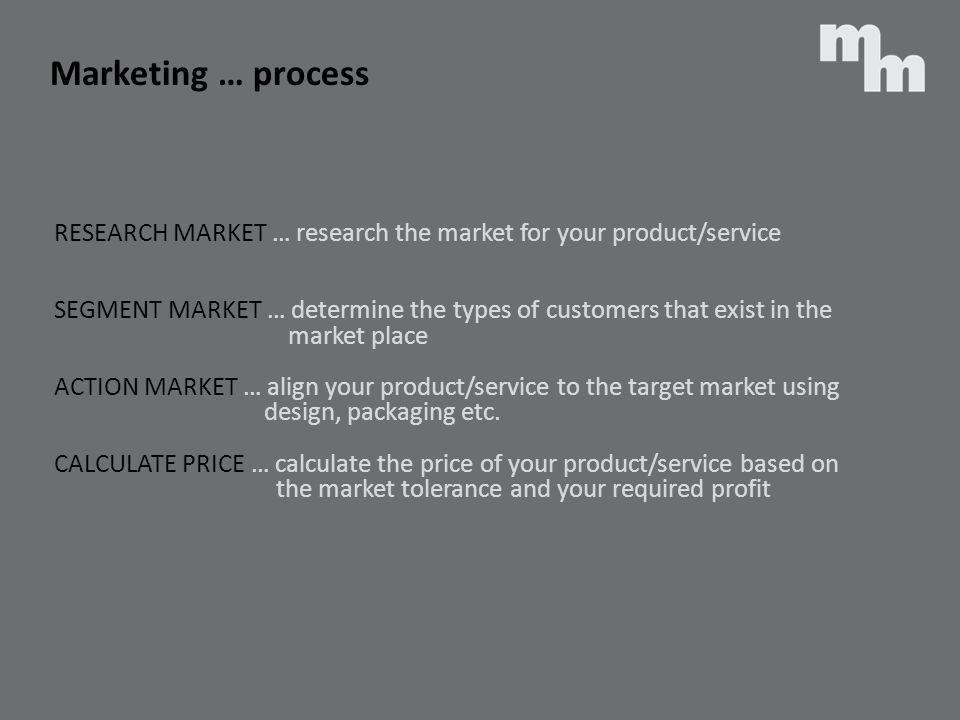 Marketing … process