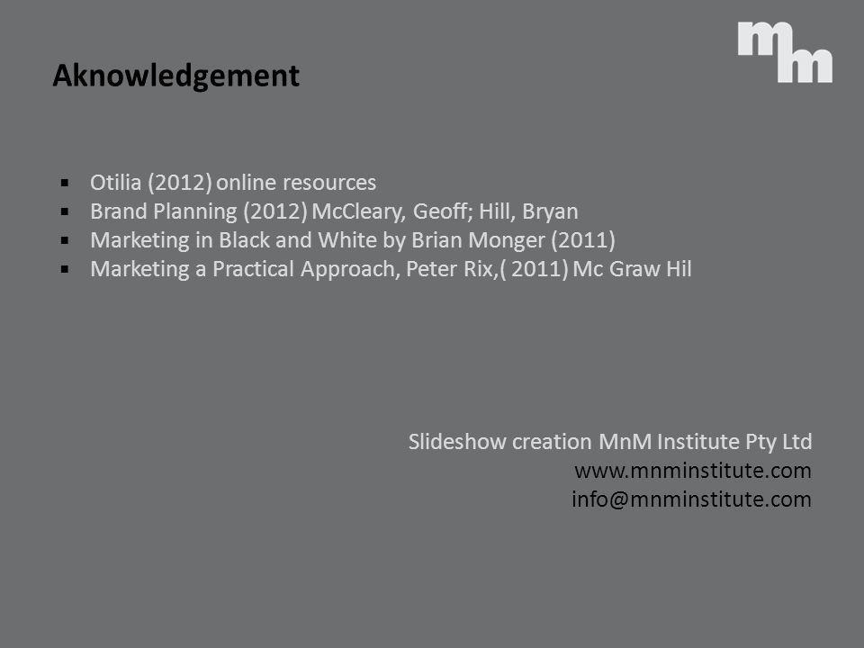 Aknowledgement Otilia (2012) online resources