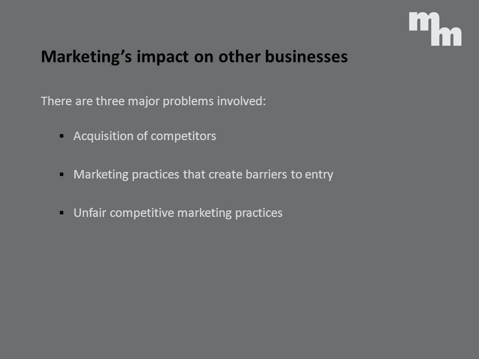 Marketing's impact on other businesses