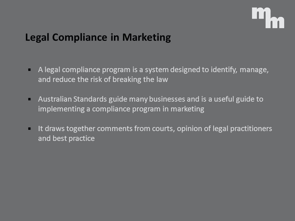 Legal Compliance in Marketing