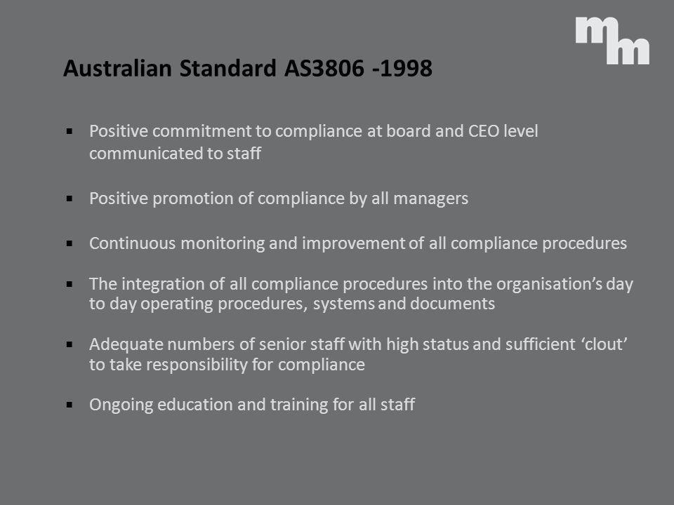 Australian Standard AS3806 -1998
