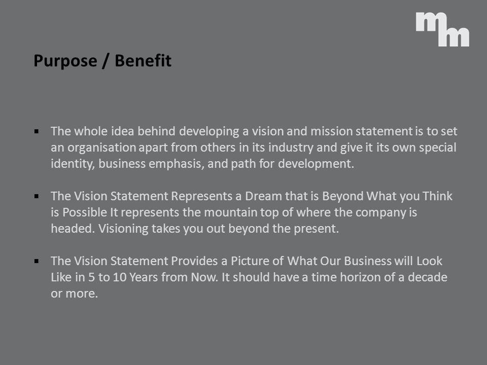 Purpose / Benefit