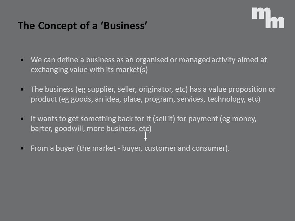 The Concept of a 'Business'