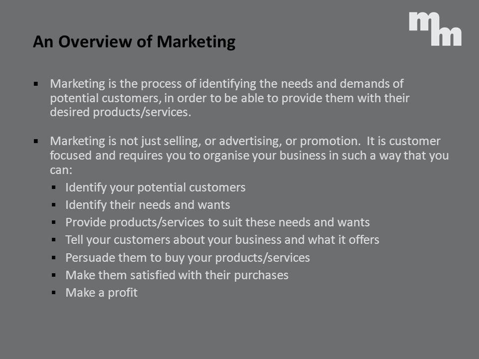 An Overview of Marketing