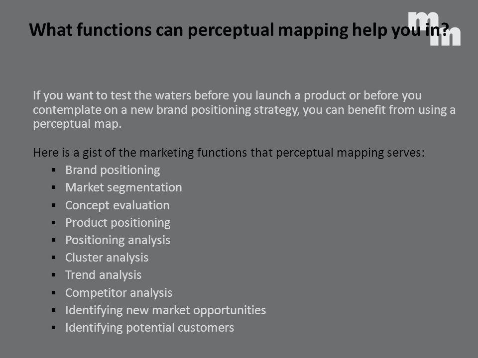 What functions can perceptual mapping help you in