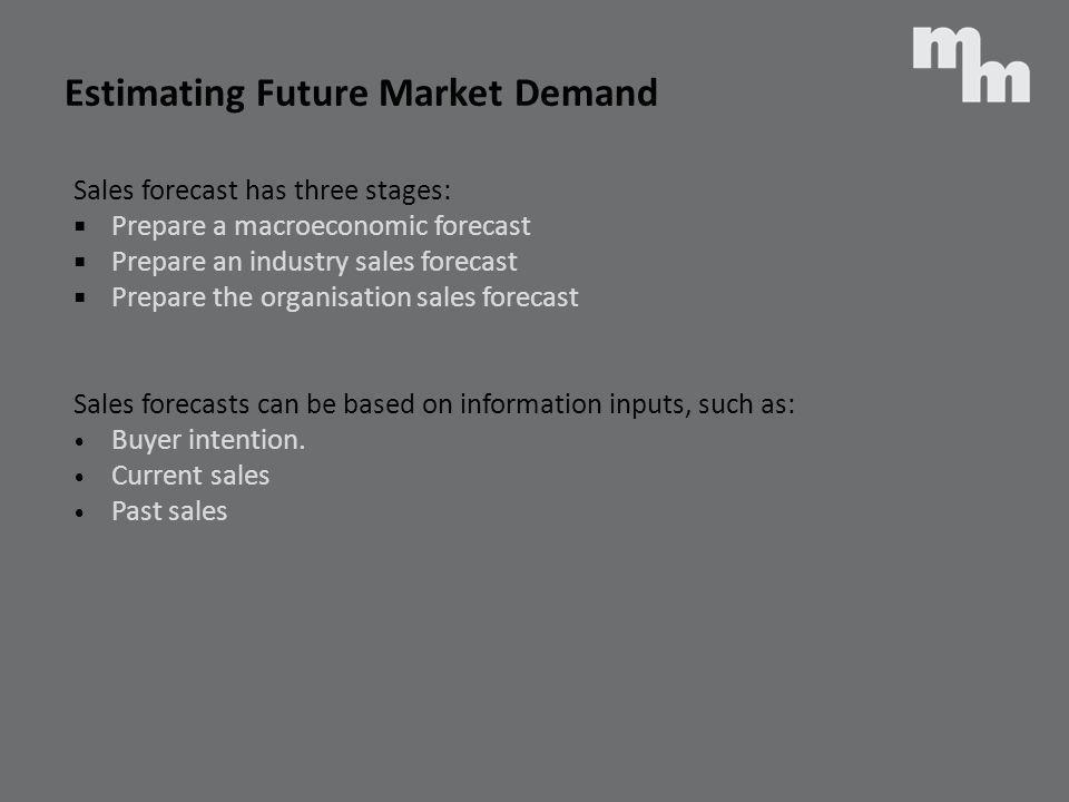 Estimating Future Market Demand