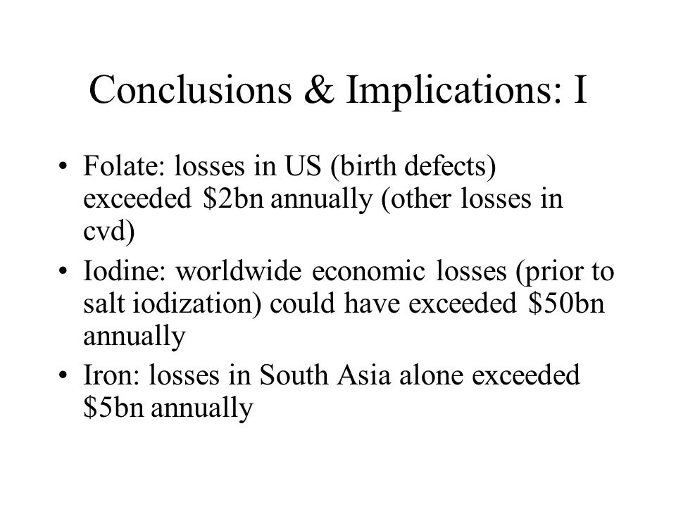 Conclusions & Implications: I