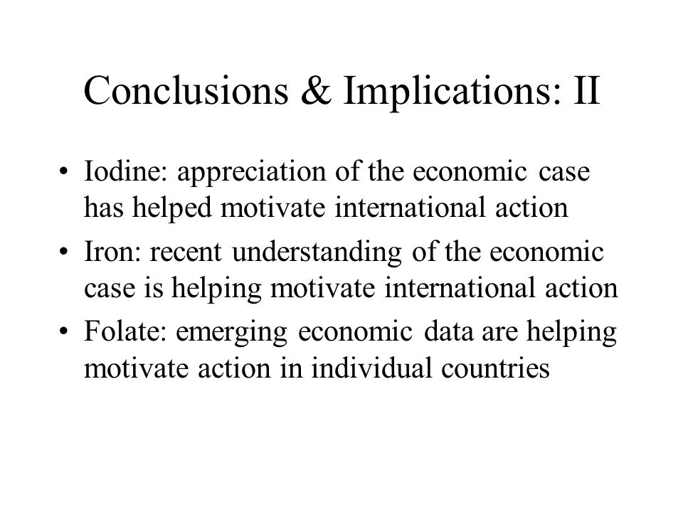 Conclusions & Implications: II