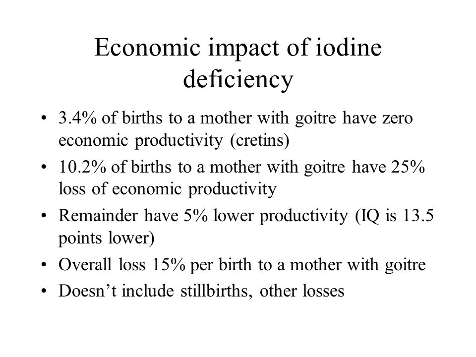 Economic impact of iodine deficiency