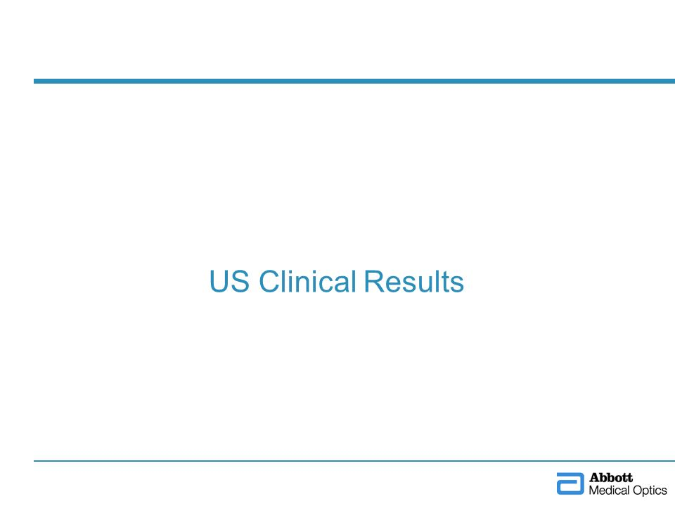 US Clinical Results