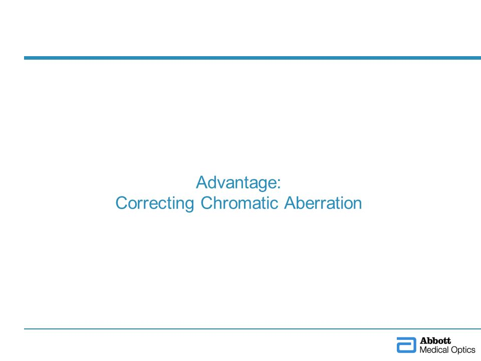 Advantage: Correcting Chromatic Aberration