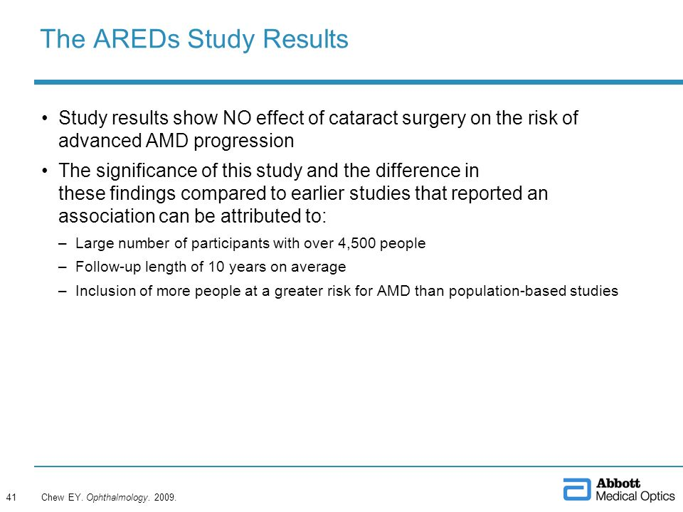 The AREDs Study Results