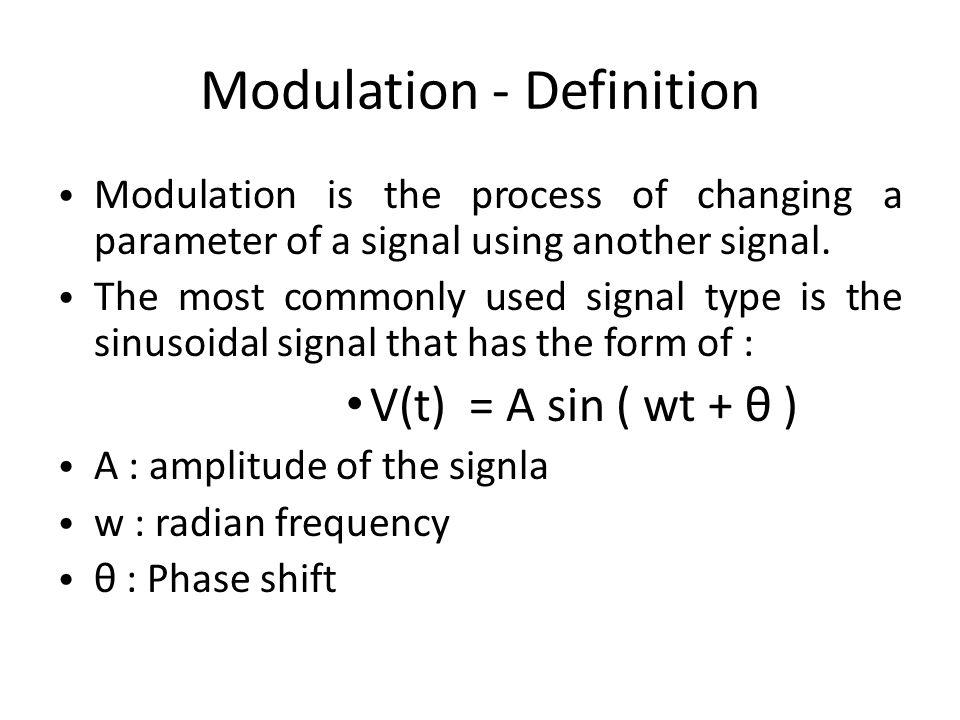 Modulation - Definition