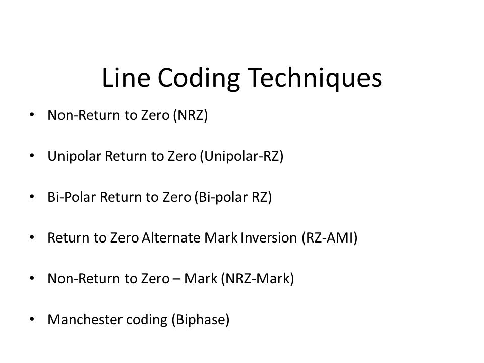 Line Coding Techniques