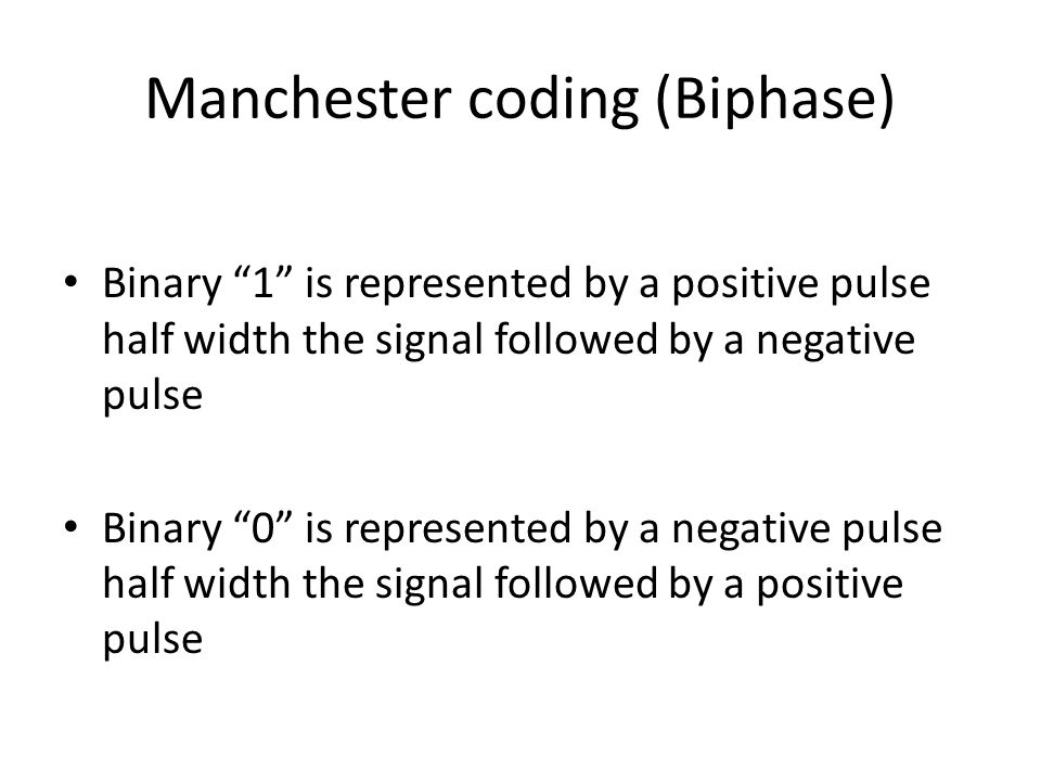 Manchester coding (Biphase)