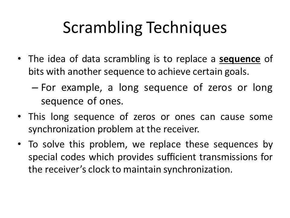 Scrambling Techniques