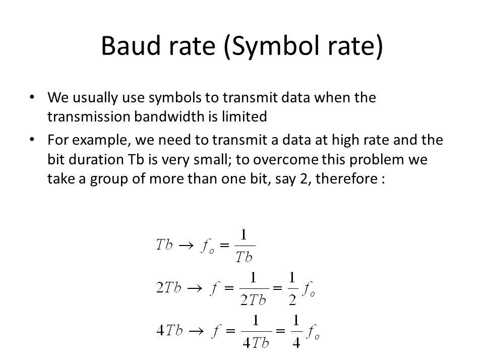 Baud rate (Symbol rate)