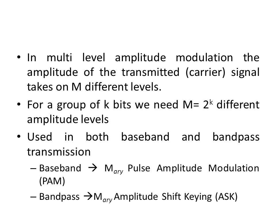 Mary Amplitude Modulation