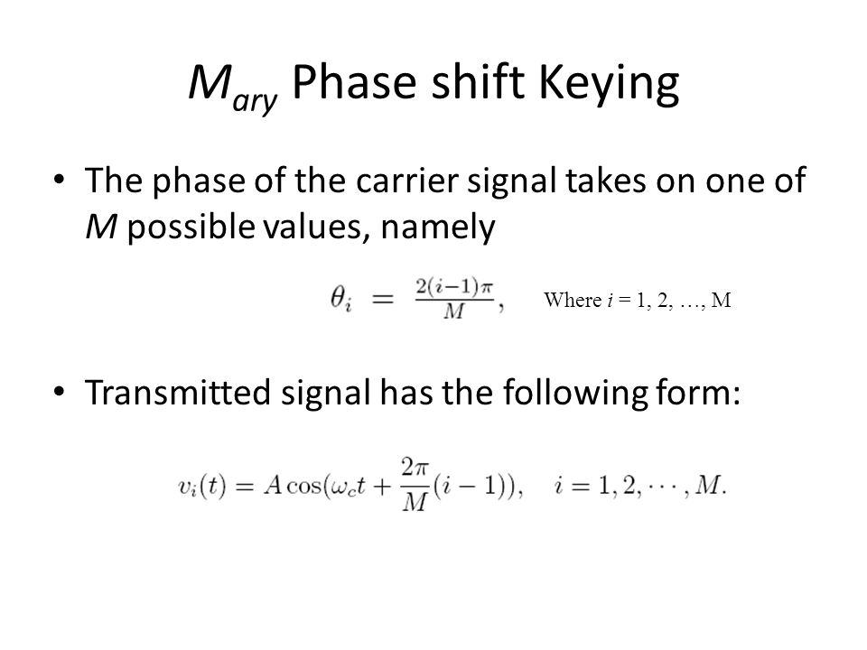 Mary Phase shift Keying