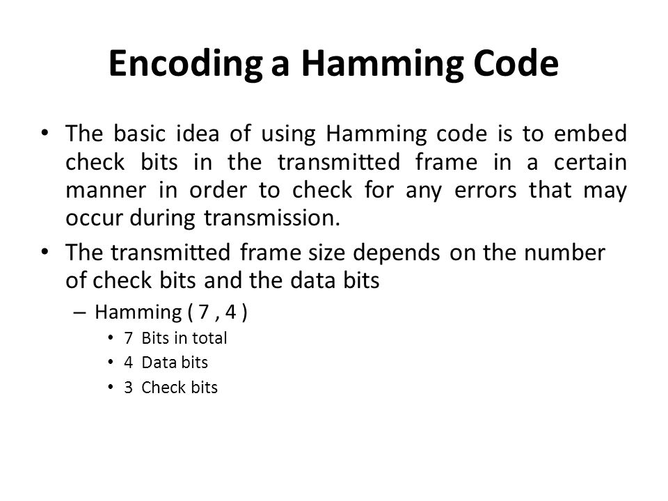 Encoding a Hamming Code
