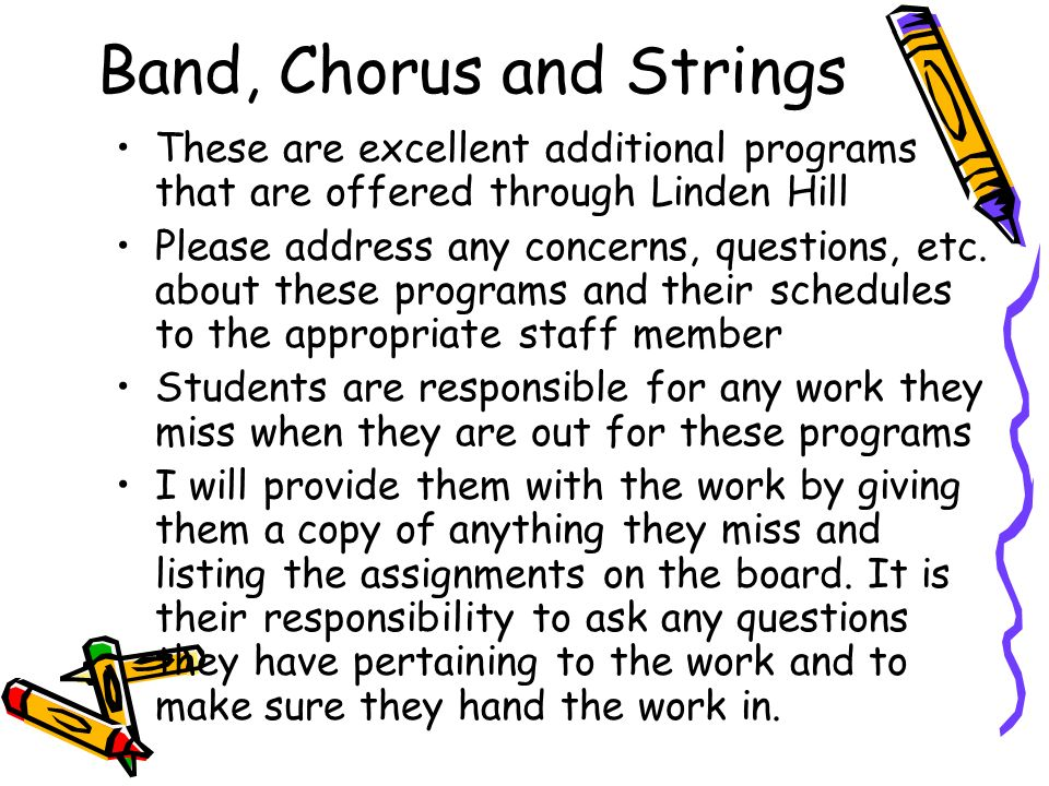 Band, Chorus and Strings