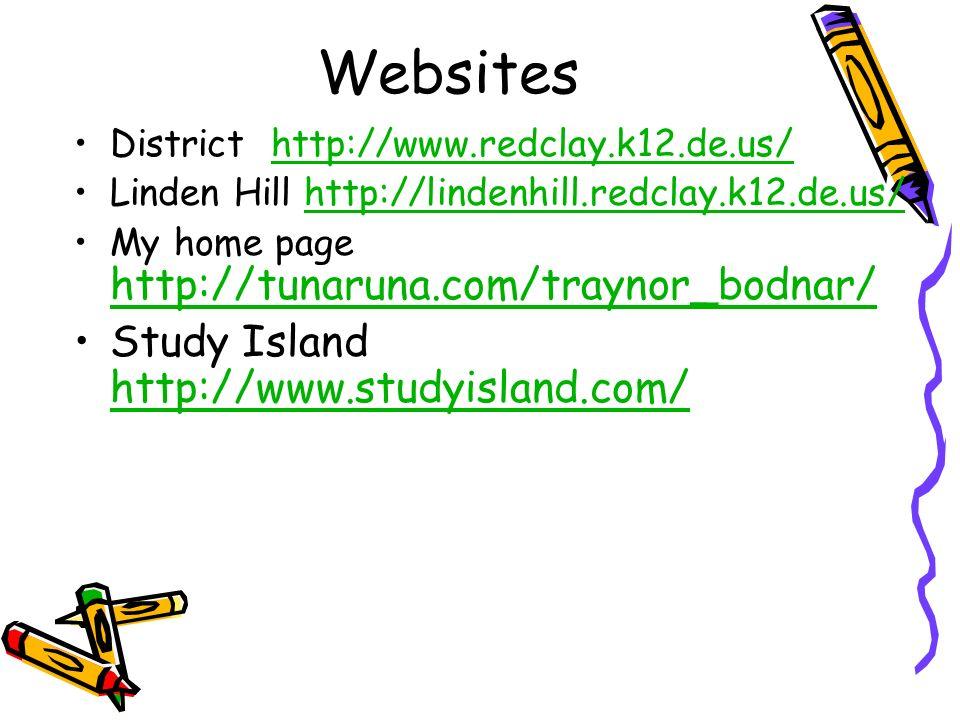Websites Study Island http://www.studyisland.com/