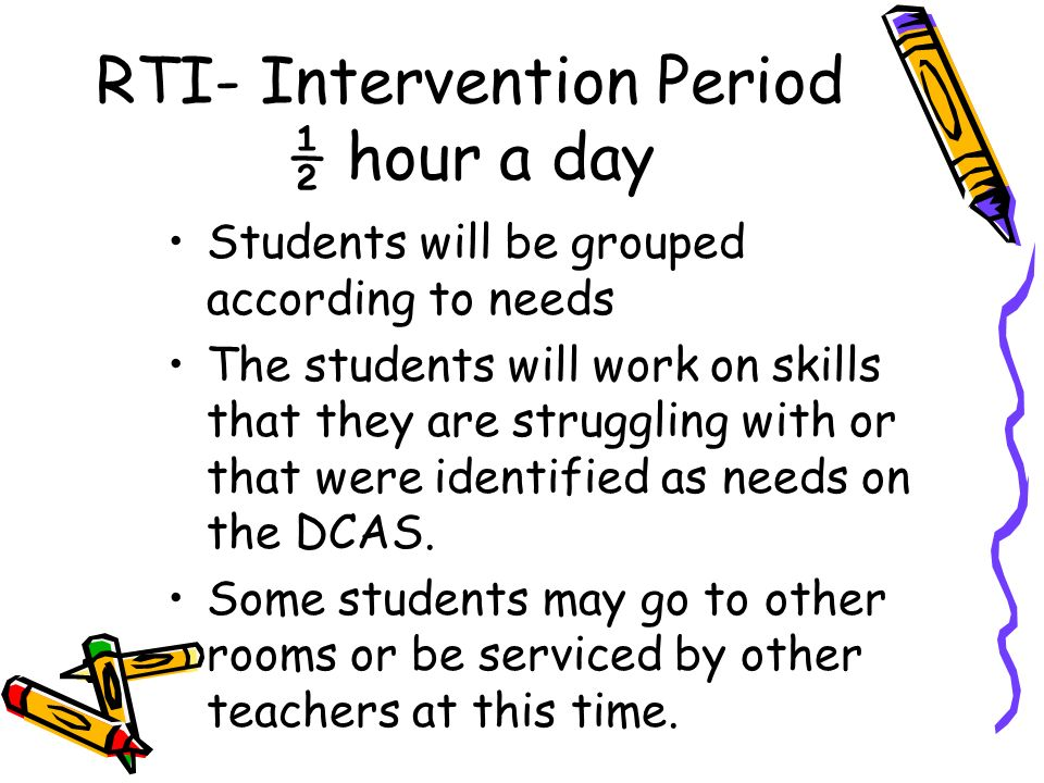 RTI- Intervention Period ½ hour a day