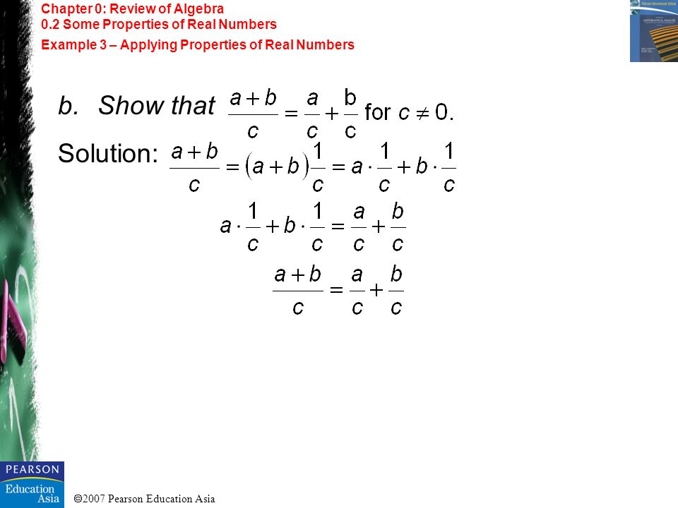 Show that Solution: Chapter 0: Review of Algebra