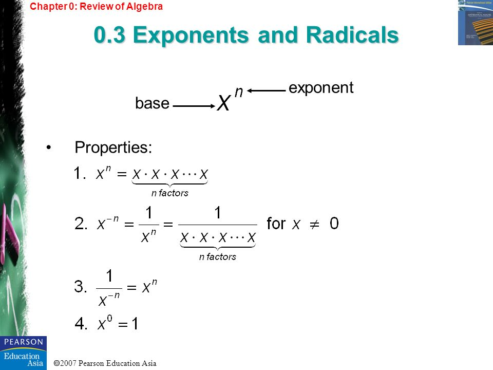 0.3 Exponents and Radicals