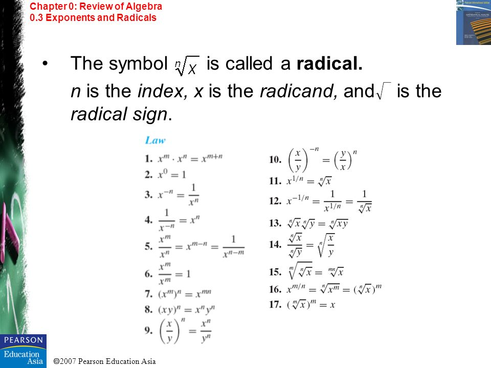 The symbol is called a radical.