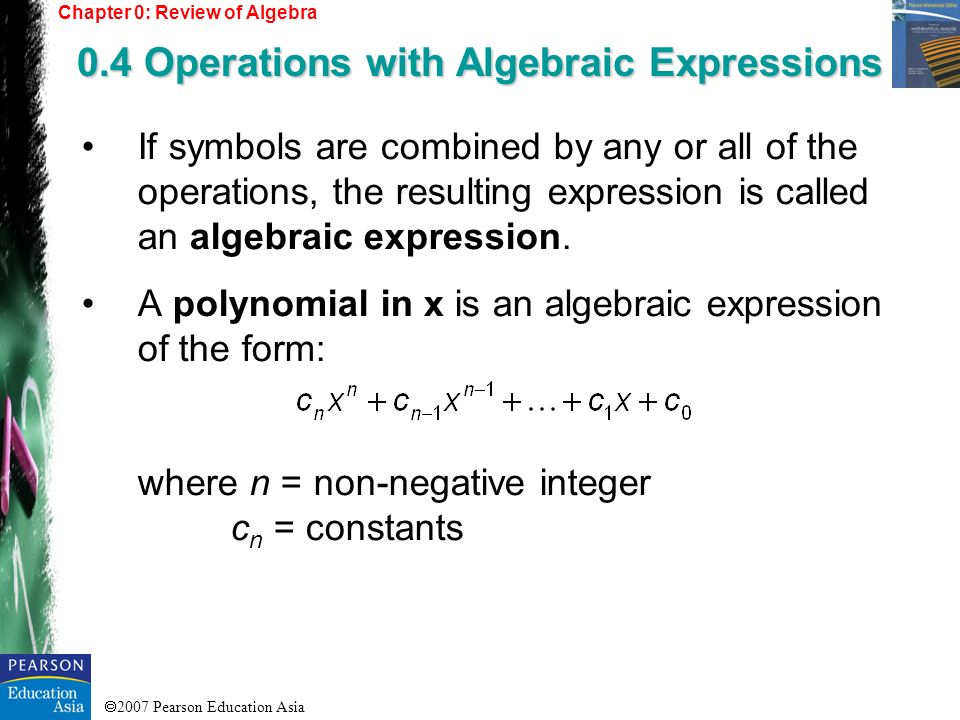 0.4 Operations with Algebraic Expressions