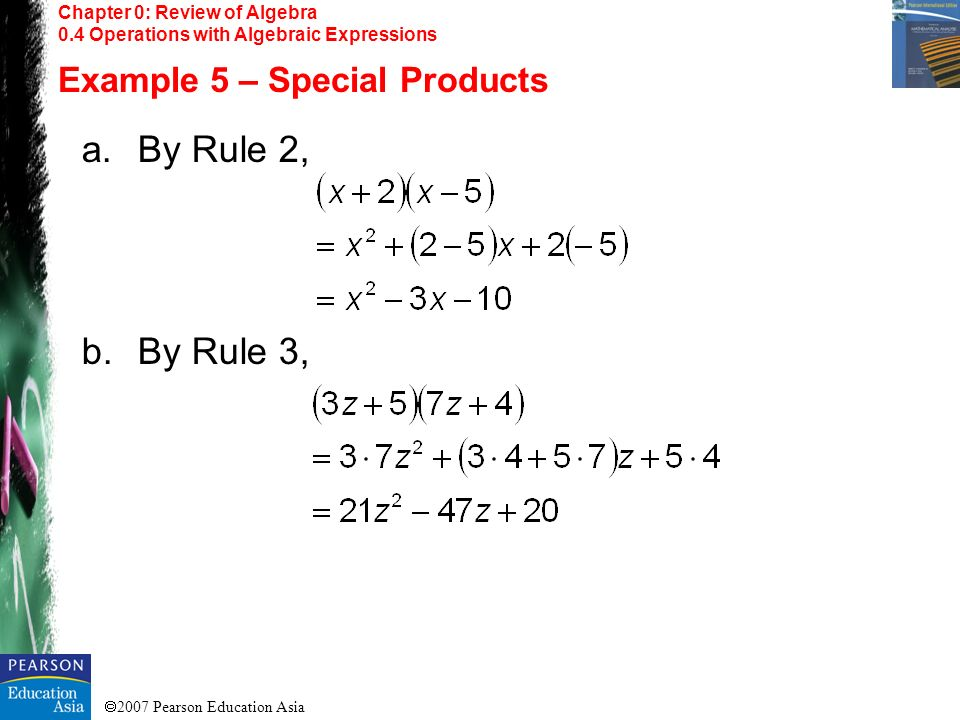 By Rule 2, By Rule 3, Example 5 – Special Products