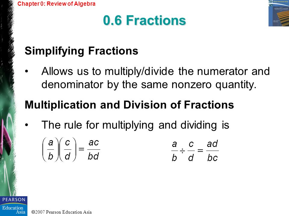 0.6 Fractions Simplifying Fractions