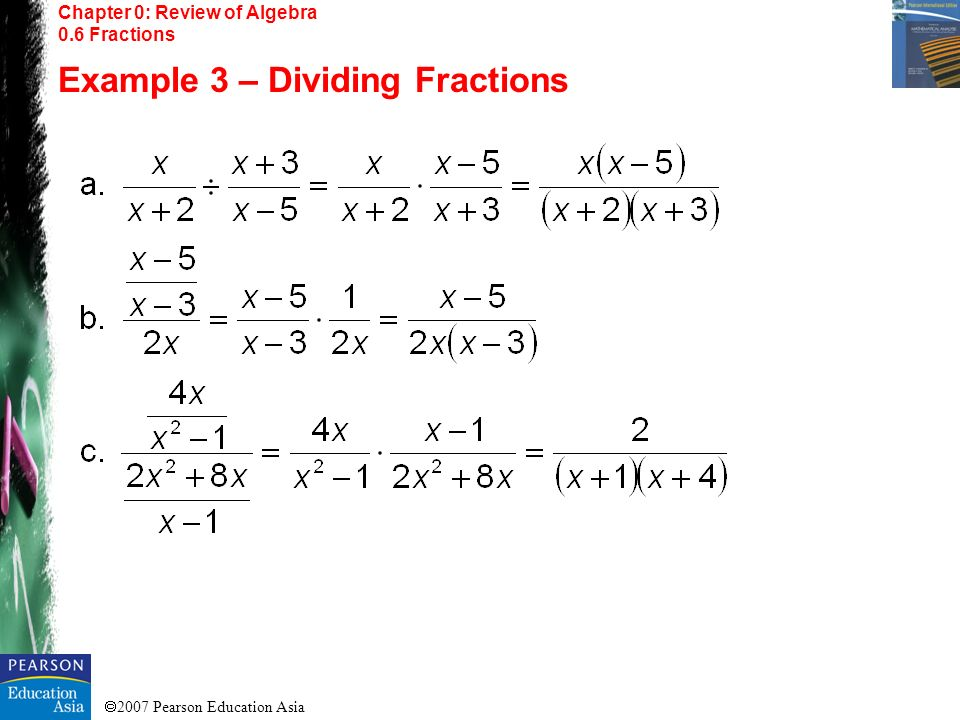 Example 3 – Dividing Fractions