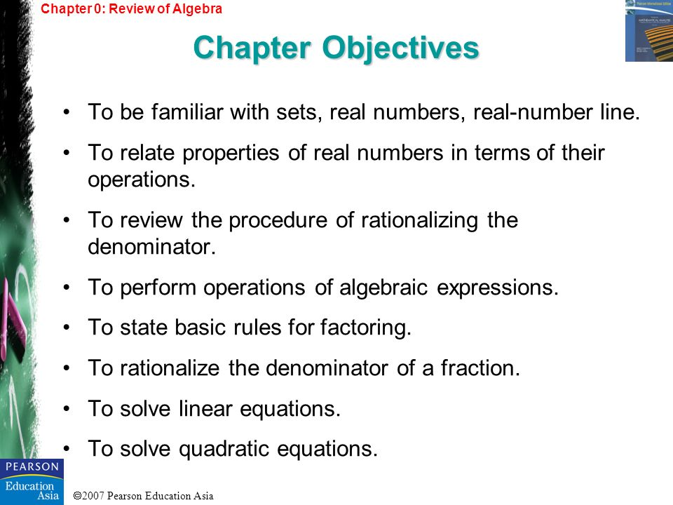 Chapter 0: Review of Algebra